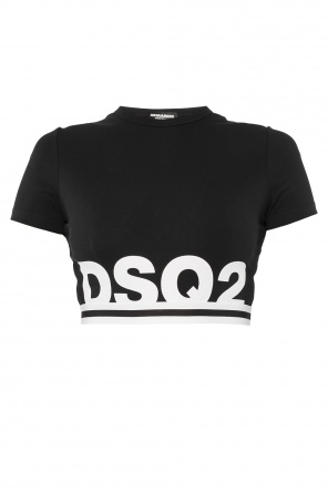 Cropped top with logo od Dsquared2